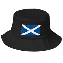 "Black Scotland Flag ""Solo"" Old School Bucket Hat by Design Express"