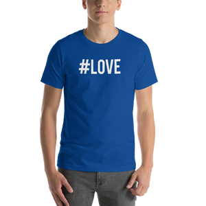 True Royal / S Hashtag #LOVE Short-Sleeve Unisex T-Shirt by Design Express