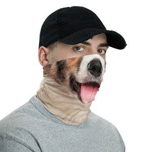 Border Collie Dog with Tongue Neck Gaiter Masks by Design Express