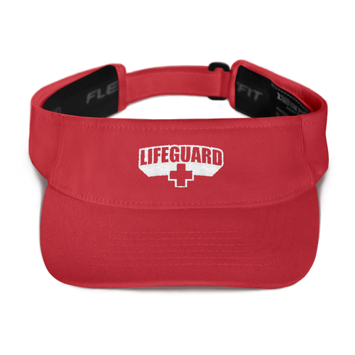 Default Title Lifeguard Classic Red Visor by Design Express