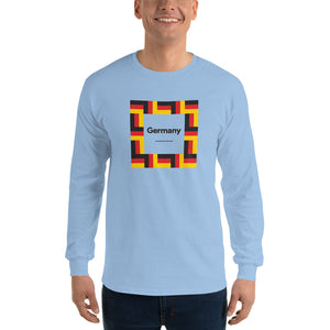 "Light Blue / S Germany ""Mosaic"" Long Sleeve T-Shirt by Design Express"