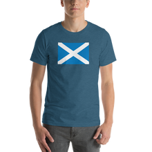 "Heather Deep Teal / S Scotland Flag ""Solo"" Short-Sleeve Unisex T-Shirt by Design Express"