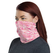 Baby Pink Camo Neck Gaiter Masks by Design Express