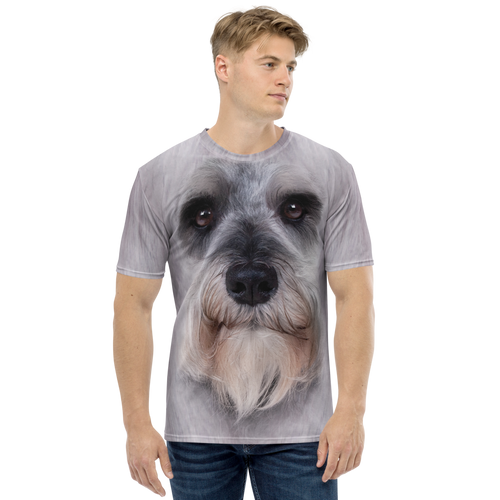 XS Schnauzer Dog Men's T-shirt by Design Express