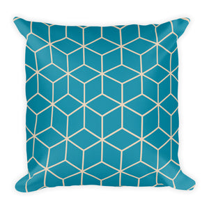 Diamonds Turquoise Pearl Square Premium Pillow by Design Express