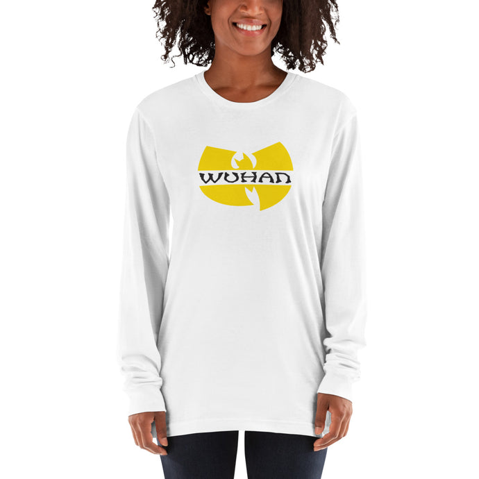 Wuhan Clan Unisex Long Sleeve White T-Shirt (100% Made in the USA 🇺🇸)