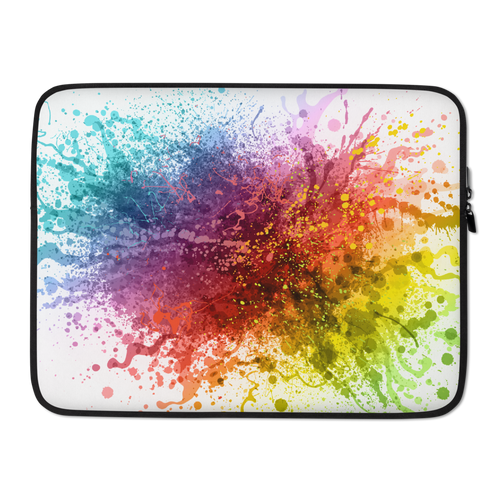 15 in Rainbow Paint Splash Laptop Sleeve by Design Express