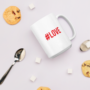 "15oz Hashtag #LOVE ""Red or Dead"" Mug Mugs by Design Express"