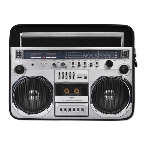 15 in Boom Box 80s Laptop Sleeve by Design Express