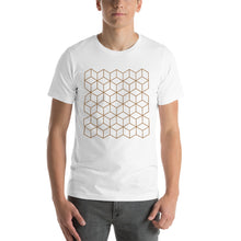 White / S Diamonds Patterns Short-Sleeve Unisex T-Shirt by Design Express