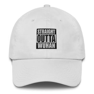 Default Title Straight Outta Wuhan Baseball Cap (100% Made in the USA 🇺🇸) Baseball Caps by Design Express