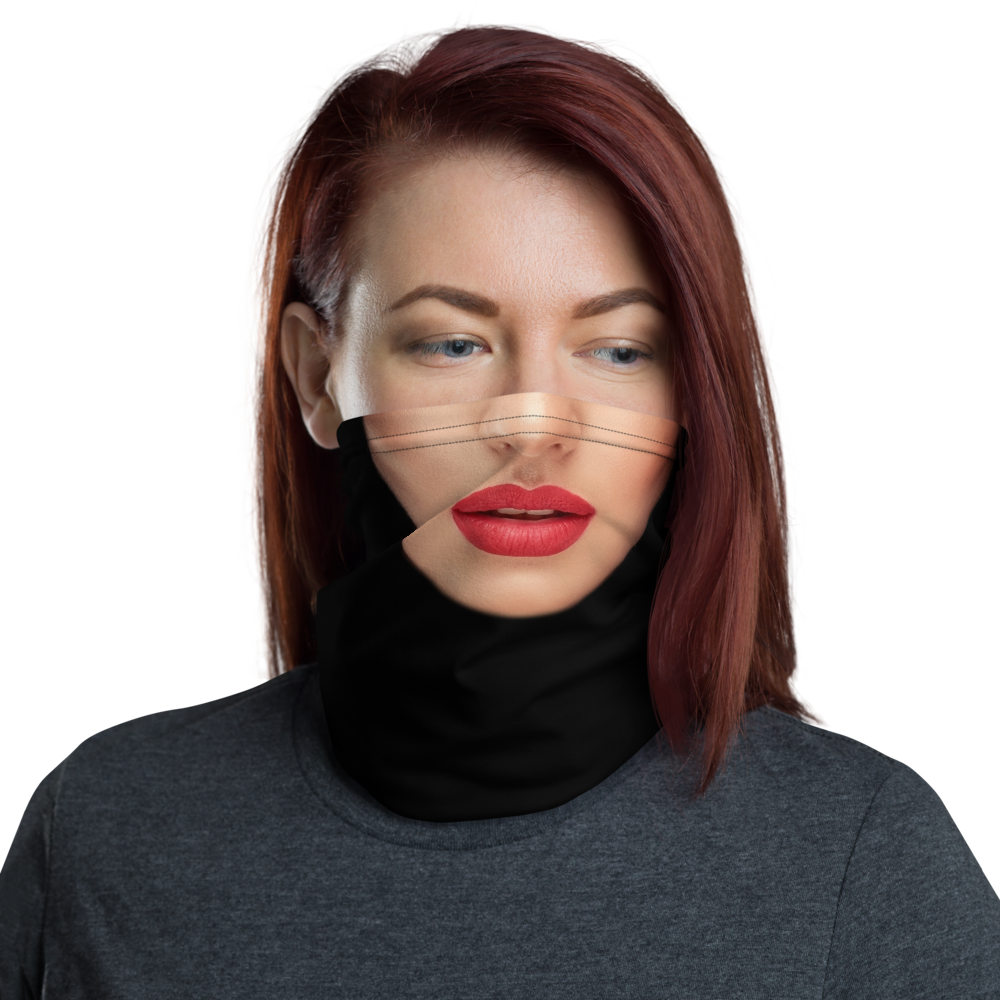 Default Title Woman with Red Lips Neck Gaiter Masks by Design Express