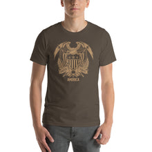 Army / S United States Of America Eagle Illustration Gold Reverse Short-Sleeve Unisex T-Shirt by Design Express