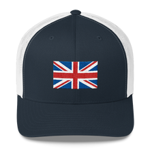 "Navy/ White United Kingdom Flag ""Solo"" Trucker Cap by Design Express"