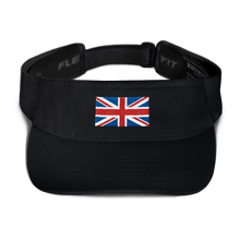 "Black United Kingdom Flag ""Solo"" Visor by Design Express"