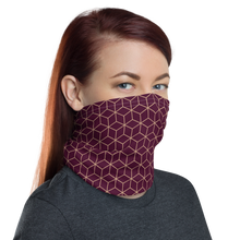 Diamond Wine Pattern Neck Gaiter Masks by Design Express