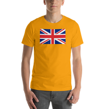 "Gold / S United Kingdom Flag ""Solo"" Short-Sleeve Unisex T-Shirt by Design Express"