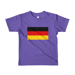 Purple / 2yrs Germany Flag Short sleeve kids t-shirt by Design Express