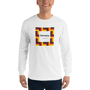 "White / S Germany ""Mosaic"" Long Sleeve T-Shirt by Design Express"