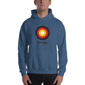 "Indigo Blue / S Germany ""Target"" Hooded Sweatshirt by Design Express"