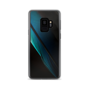 Samsung Galaxy S9 Blue Black Feather Samsung Case by Design Express