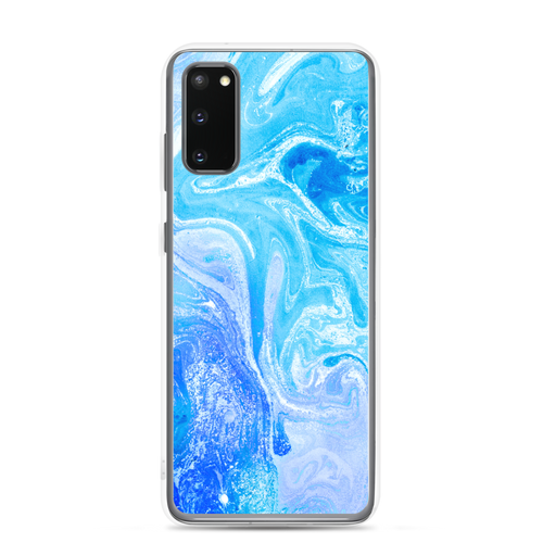 Samsung Galaxy S20 Blue Watercolor Marble Samsung Case by Design Express