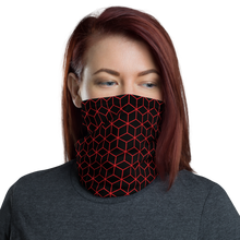 Default Title Diamond Red Black Pattern Neck Gaiter Masks by Design Express