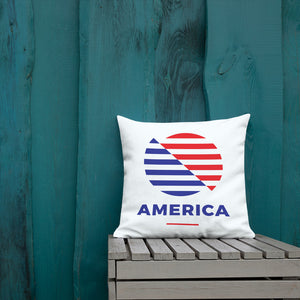 "Default Title America ""The Rising Sun"" Square Premium Pillow by Design Express"