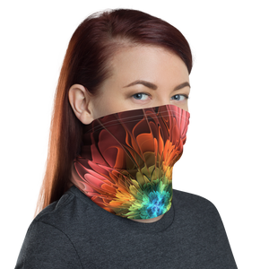 Abstract Flower 03 Neck Gaiter Masks by Design Express