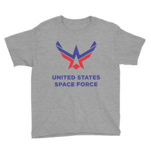Heather Grey / XS United States Space Force Youth Short Sleeve T-Shirt by Design Express