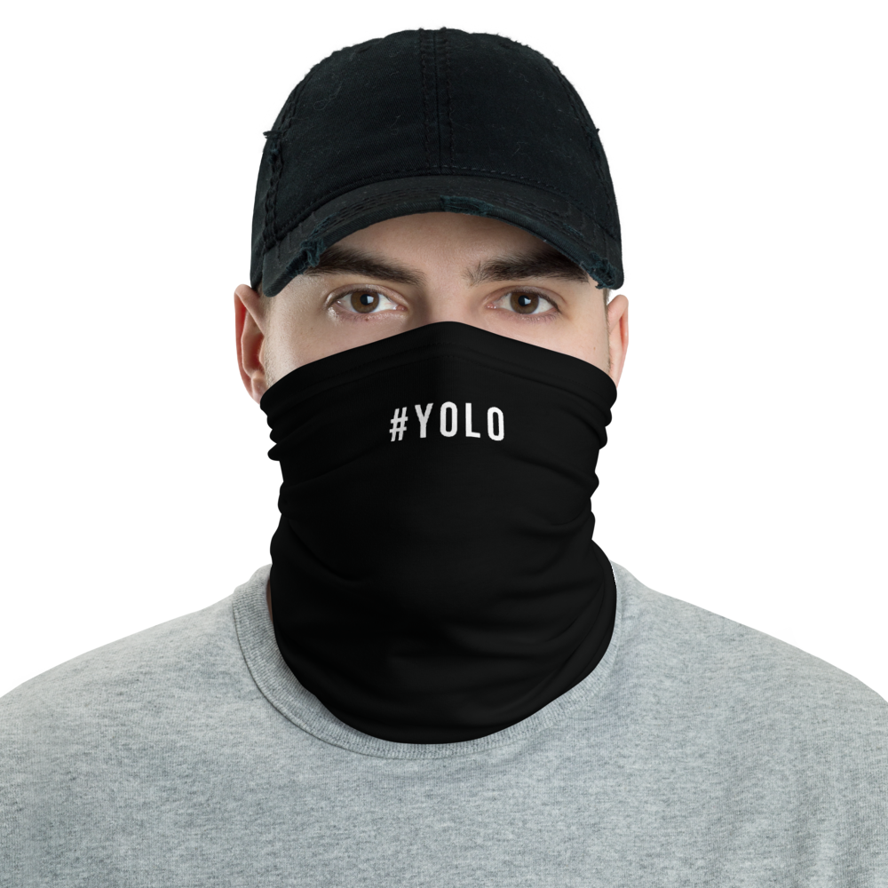 Default Title #YOLO Hashtag Neck Gaiter Masks by Design Express