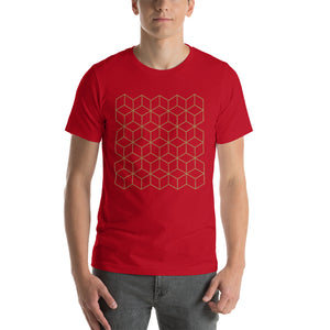 Red / S Diamonds Patterns Short-Sleeve Unisex T-Shirt by Design Express