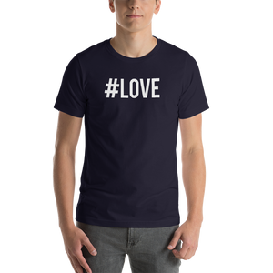 Navy / S Hashtag #LOVE Short-Sleeve Unisex T-Shirt by Design Express