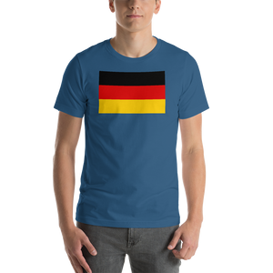 Steel Blue / S Germany Flag Short-Sleeve Unisex T-Shirt by Design Express