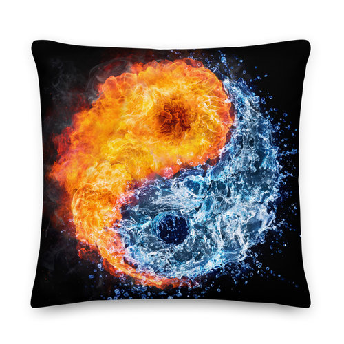 22×22 Fire & Water Premium Pillow by Design Express