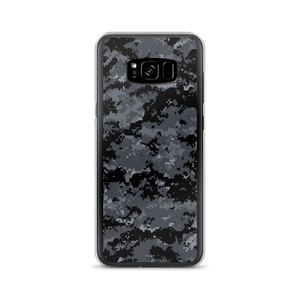Samsung Galaxy S8+ Dark Grey Digital Camouflage Print Samsung Case by Design Express