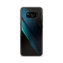 Samsung Galaxy S8 Blue Black Feather Samsung Case by Design Express