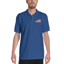 "United States Flag ""Solo"" Embroidered Polo Shirt by Design Express"