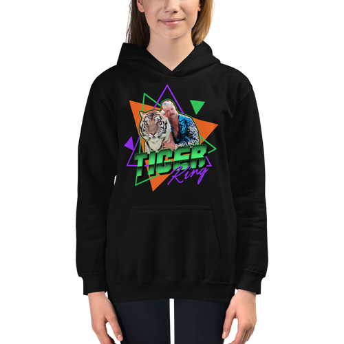 XS Tiger King Unisex Kids Hoodie by Design Express