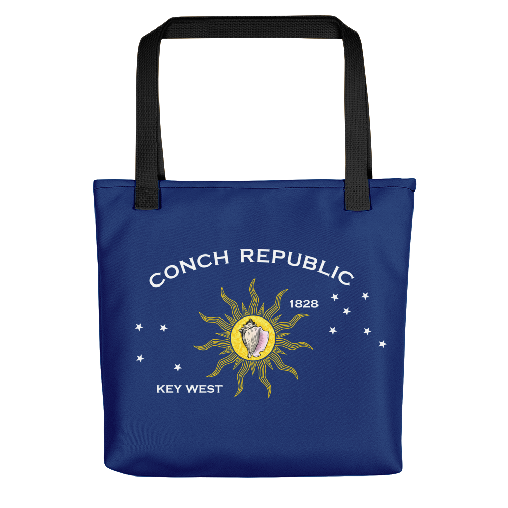 Key West Conch Republic Flag Allover Print Tote bag