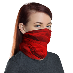 Red Feathers Texture Neck Gaiter Masks by Design Express