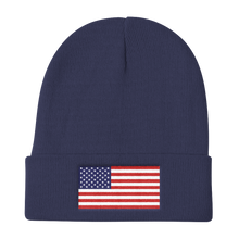 "Navy United States Flag ""Solo"" Knit Beanie by Design Express"
