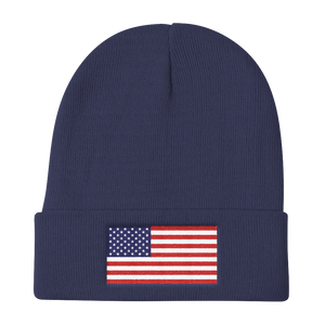 "United States Flag ""Solo"" Knit Beanie"