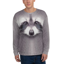 "XS Racoon ""All Over Animal"" Unisex Sweatshirt by Design Express"