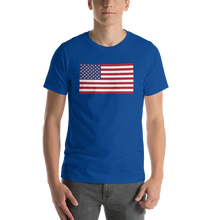 "True Royal / S United States Flag ""Solo"" Short-Sleeve Unisex T-Shirt by Design Express"