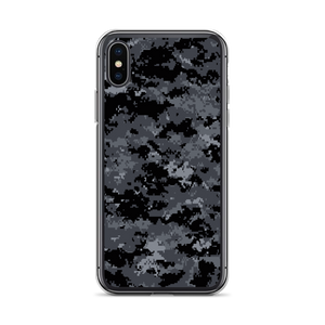 iPhone X/XS Dark Grey Digital Camouflage Print iPhone Case by Design Express