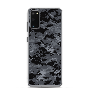 Samsung Galaxy S20 Dark Grey Digital Camouflage Print Samsung Case by Design Express