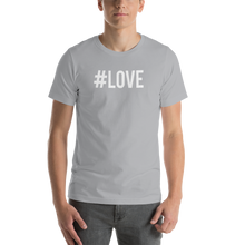 Silver / S Hashtag #LOVE Short-Sleeve Unisex T-Shirt by Design Express