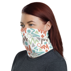 Soft Geometrical Pattern 02 Neck Gaiter Masks by Design Express