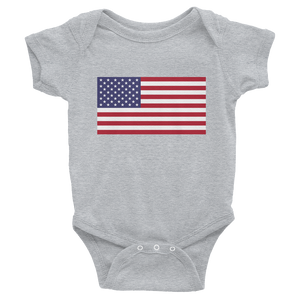 "Heather / 6M United States Flag ""Solo"" Infant Bodysuit by Design Express"
